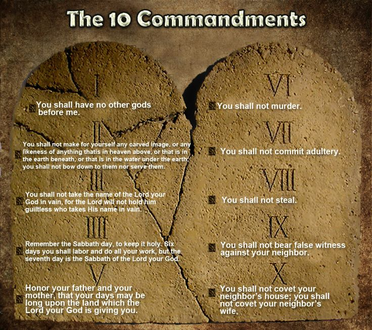 The 10 Commandments  of the Bible  I thought I would draw up this article for all of you in order to give you a complete list of the 10 commandments. Most Christians do not have all of them memorized.  I will give you the specific verse from Scripture where the 10 commandments are being given to us by the