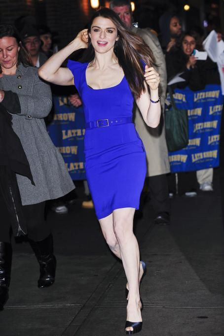 Rachel Weisz At The David Letterman Show