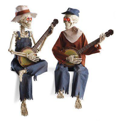 interactive dueling banjo halloween halloween skeletons grandin road httpwww