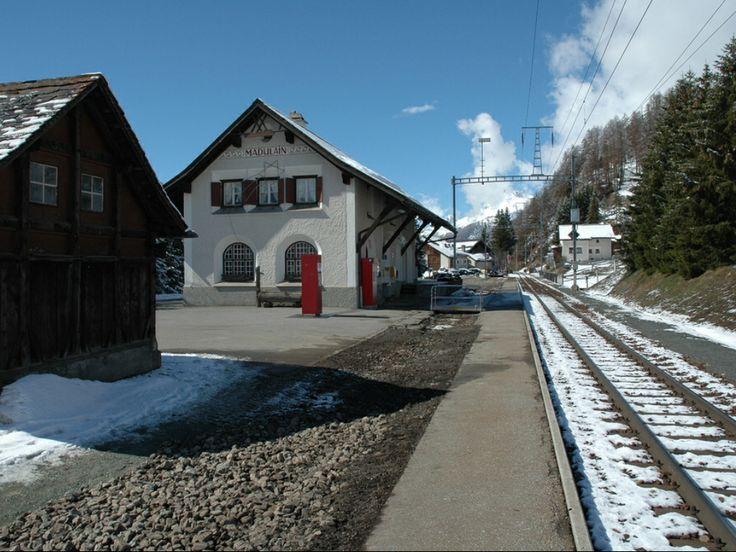 Madulain Train Station-Switzerland