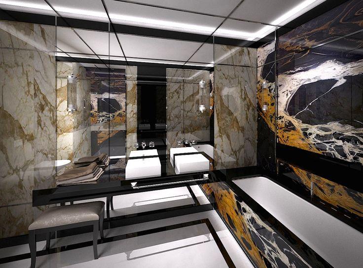 Dominika J. Rostocka - Architekt | Apartment in Warsaw bathroom New ArtDeco