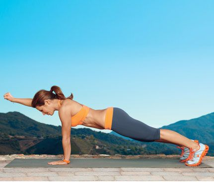 Jillian Michaels's 16-Minute Slim-Down: do as many reps of each move as possible for 1 minute