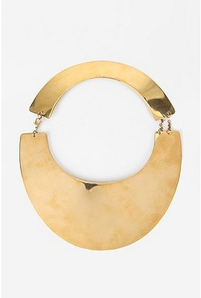 breyten metal mirror collar necklace