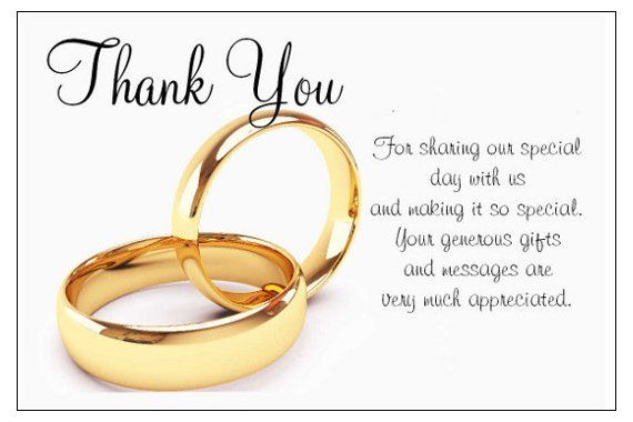 12 best Wedding Thank You Examples images on Pinterest Wedding