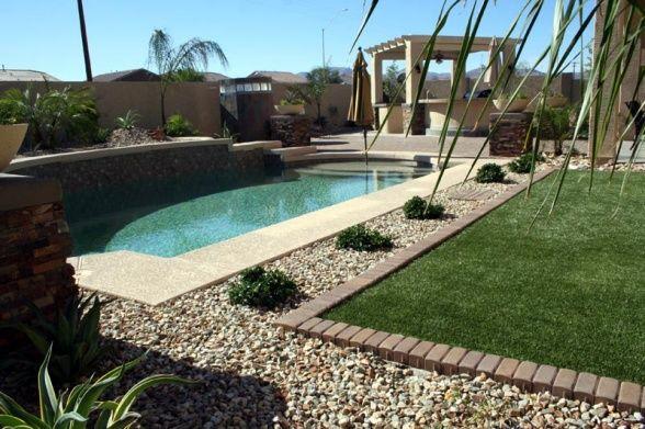 Elegant arizona desert backyard yard and pool are for Garden pool in arizona