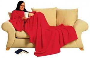 Плед с рукавами (красный) - Необычный текстиль - КАТАЛОГ ПОДАРКОВ