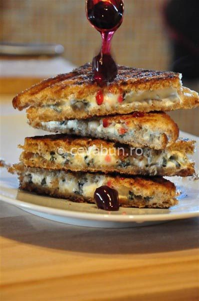 Blue Cheese and Jam Toast