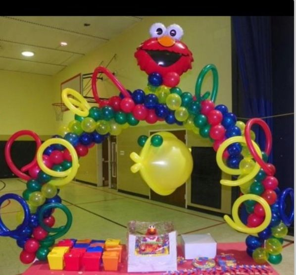 Balloon elmo arch elmo pinterest balloons and arches for Balloon arch tape