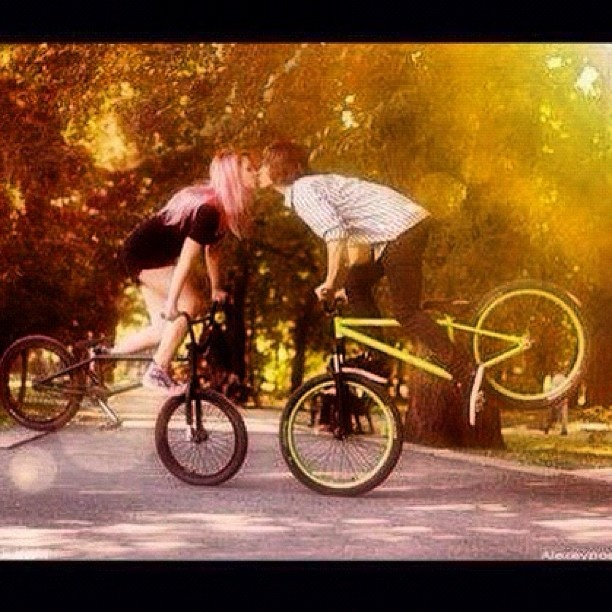 when the girl actually knows how to bmx too (:
