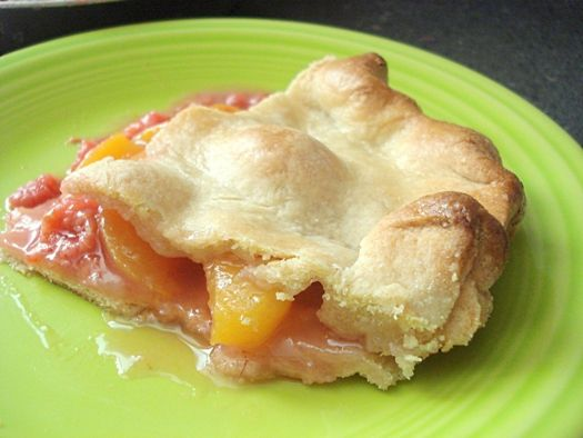 Peach Raspberry Pie. I am going to make this sometime this week in my mini pie maker.