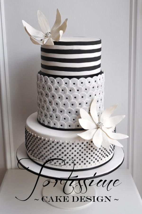 Wouldn't a single letter Monogram with some bling look great atop this gorgeous cake?!?!?