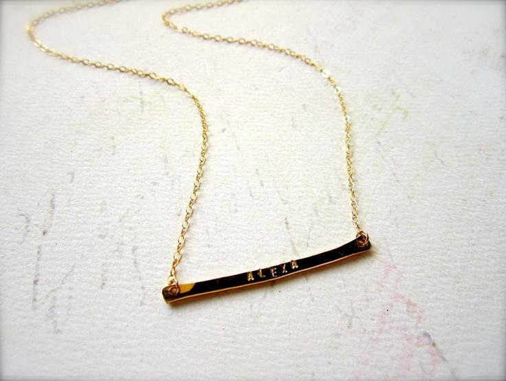 custom tiny name necklace