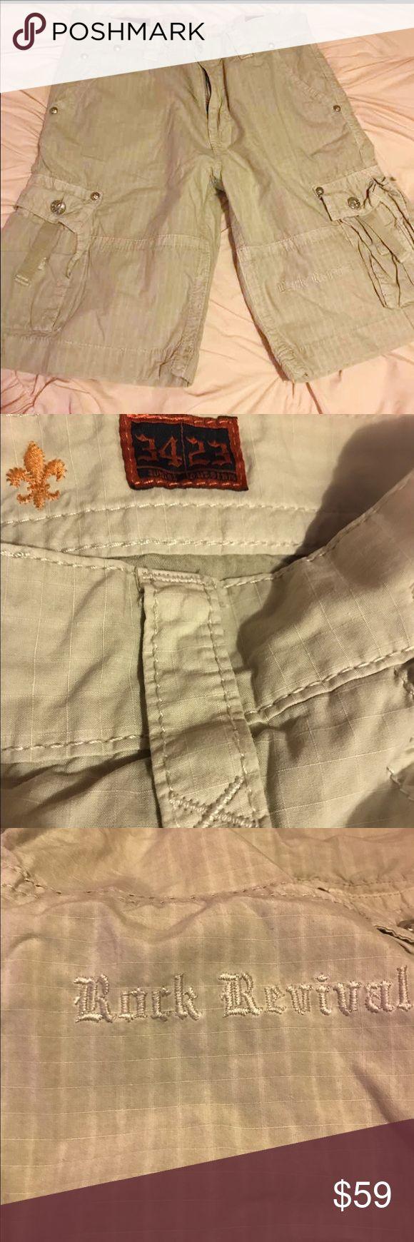 Men's Rock Revival shorts size 34 Men's Rock Revival shorts in excellent condition. Only worn maybe 3 times. Size 34 Rock Revival Shorts Cargo