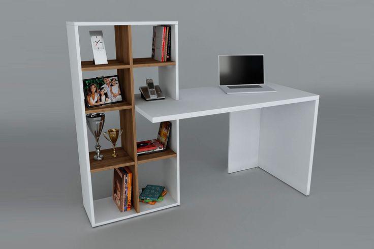 Vente wooden art 22929 bureaux bureau win blanc et imitation bois m - Vente privee meuble et deco ...