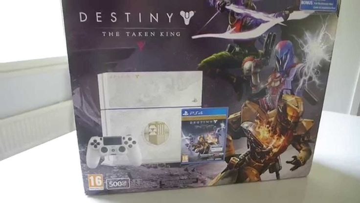500GB PlayStation 4 Console - Destiny: The Taken King Limited Edition Bundle Includes: 500 GB PlayStation 4 System, 1 DualShock 4 Wireless Controller, AC Power Cable, HDMI Cable, USB 2.0 Cable, Mono Wired Headset, a physical copy of Destiny: The Taken King Legendary Edition, and a digital voucher for Destiny: The Taken King Digital Collector's Edition Upgrade Destiny: The Taken King - Legendary Edition includes the newest installment as well as all Destiny content released to-date. Get…