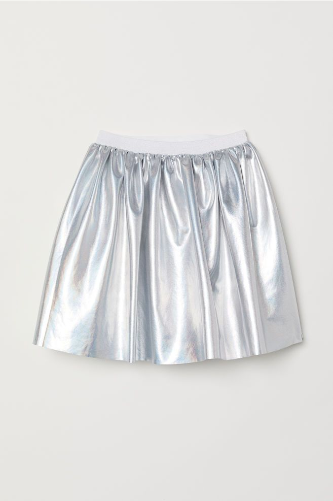 f7a4afa67 Shimmering Metallic Skirt - Silver-colored - Kids | H&M US - $14.99