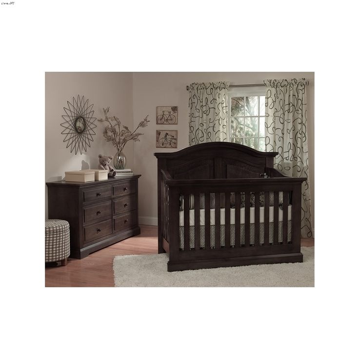 Minure Chatham Curved Top Vintage Slate Crib Collection