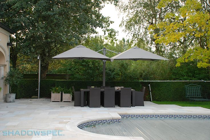 SHADOWSPEC - Global Suppliers of Luxury Outdoor Umbrella Systems. An SU6 Cantilever Umbrella can hold up to 4 umbrellas on one mast, allowing for maximised use of space in your patio or porch area. Patio umbrellas are a must for outdoor patio spaces required to provide a cool, shady retreat. Available in a range of colours to complement your outdoor furniture! Click below for more information: www.shadowspec.com (USA) www.shadowspec.com.au (Australia) www.shadowspec.co.nz (NZ/Other)