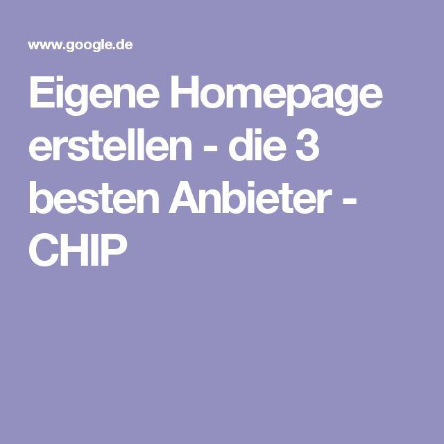 Eigene Homepage erstellen - die 3 besten Anbieter - CHIP