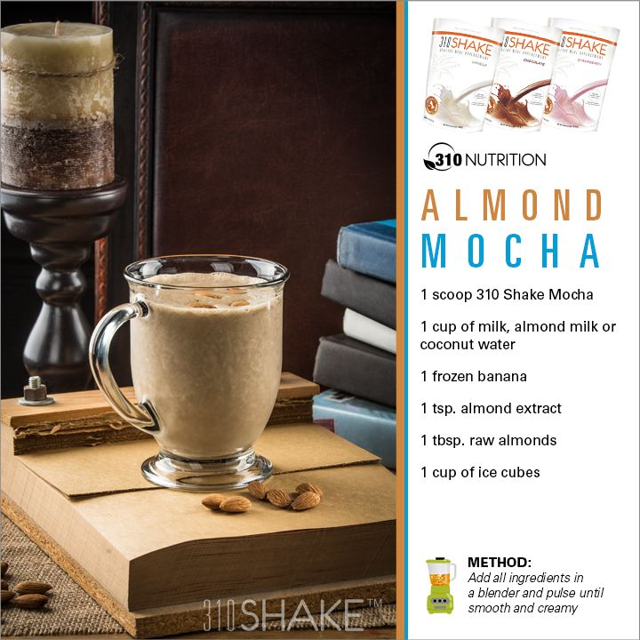 Almond Mocha! Re-pin this for a chance to win a free bag of Mocha and a 310 Cleanse! #310Nutrition