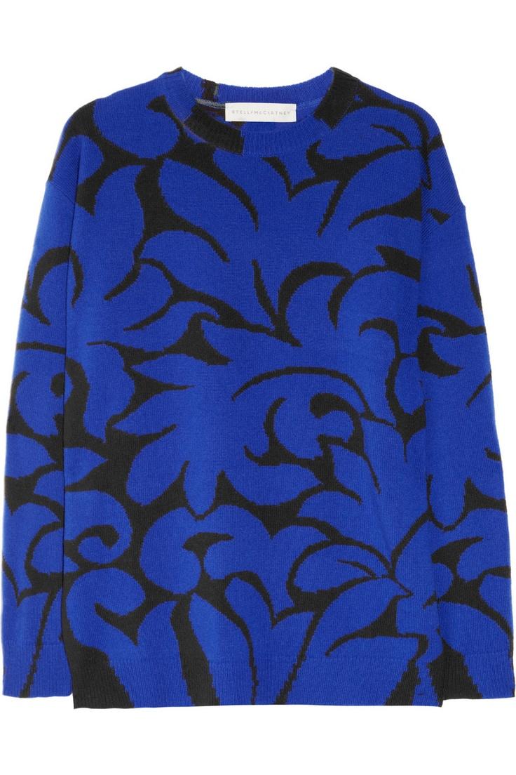 Stella McCartney Giannina intarsia wool sweater NET-A-PORTER.COM: Full Skirts, Wool Sweaters, Colors Combos, Stella Mccartney, Intarsia Wool, Giannina Intarsia, Stellamccartney, Black Sweaters, Mccartney Giannina