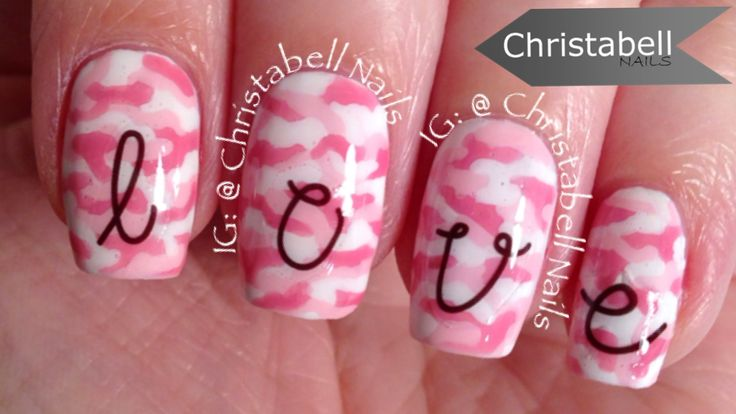ChristabellNails Pink Camo and Nail Decals Tutorial