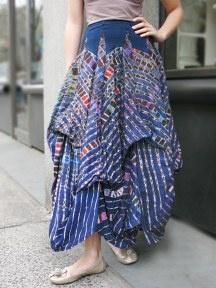 6-Color Tie Dye Long Skirt by Luna Luz