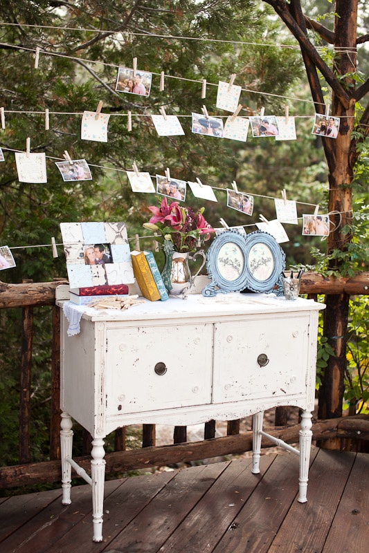 shabby chic photo display