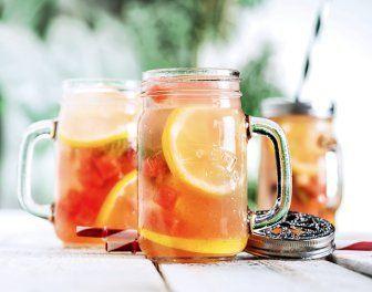 Fresh lemonade watermeloen, munt en citroen