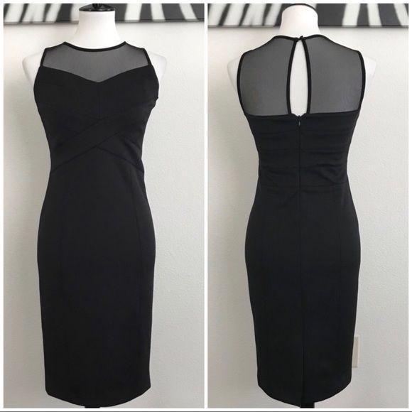 Jessica Simpson Black Scuba Dress With Mesh Detail Dress Size Chart Women Pink Pleated Dress Scuba Dress