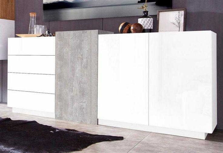 Tecnos Sideboard, Breite 195 cm ab 399,99€. 2 Türen, 4 Schubkästen, Maße (B/T/H): 195/42/90, FSC®-zertifizierter Holzwerkstoff bei OTTO