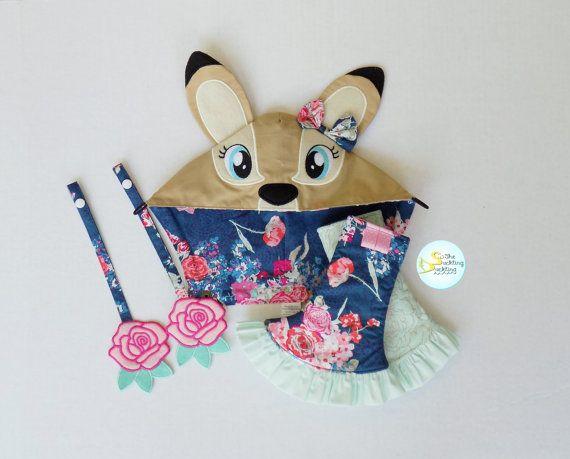 Pripravené na odoslanie ** Dievčenskú Deer Mikina odsávač nastavený pre Tula Flora modrej w prehrabať Corner Podložky a ružové ruže s výsuvným popruhmi