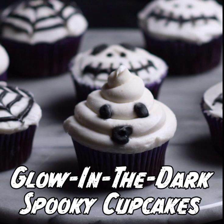 Glow-In-The-Dark Spooky Cupcakes