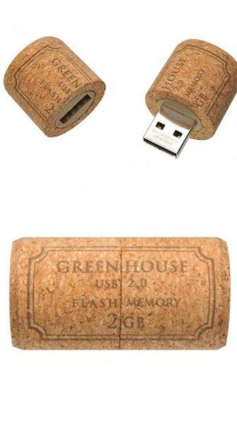 Cool and Unusual USB Flash Drives - Wine cork USB flash drive