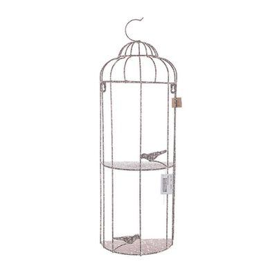 Предметы интерьера :: Декор :: Декоративные клетки и кормушки для птиц :: Полочка - клетка с птичкой JKEK3143