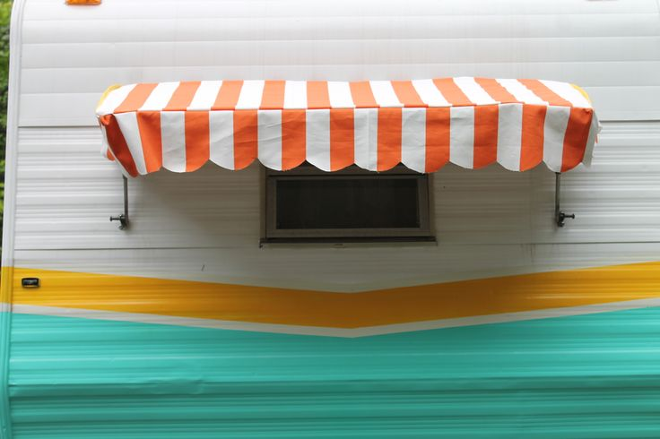 Cute Awning For The End Window Of The Camper Vintage