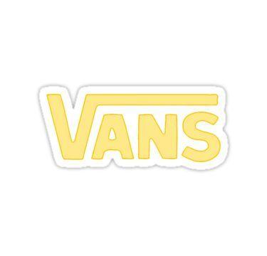 """""""Weiche gelbe Vans Aufkleber"""" Sticker von julieiluj – #julieiluj #logo #Soft #sticker #vans"""