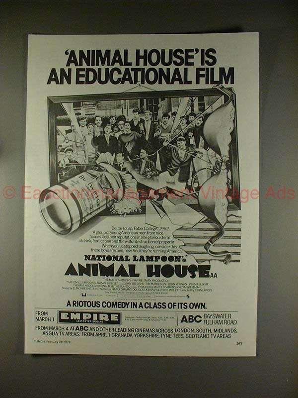 1979 Animal House Movie Ad - John Belushi - NICE!!
