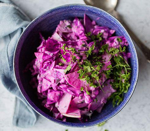 Denne kombinasjonen er ganske nydelig, og den fantastiske rosalilla fargen kan ta pusten fra enhver. Ingrediensene er tynne epleskiver, finh...