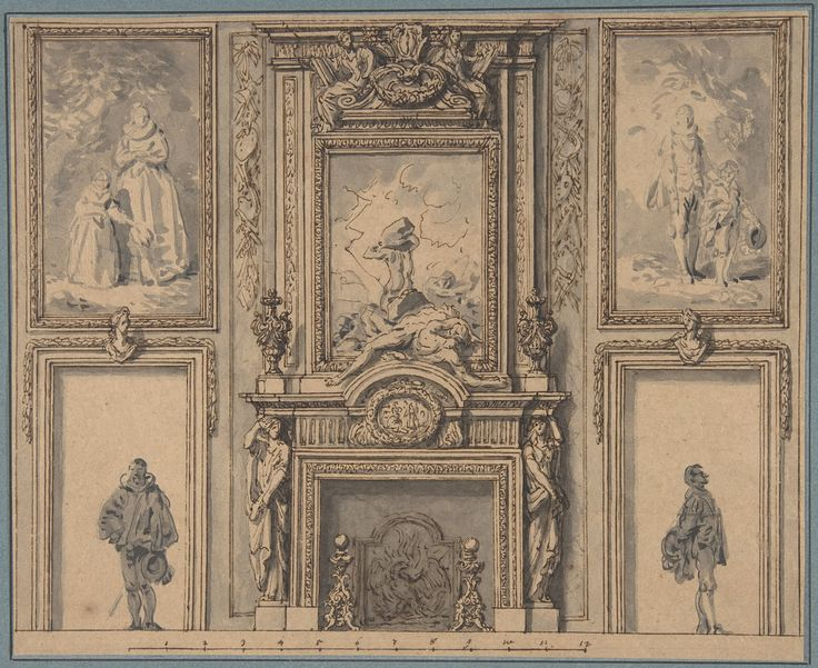 attributed to antoine le pautre design for a wall