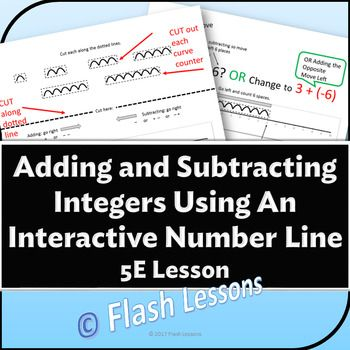 This 5E Integer Lesson takes the students through each type of addition and subtraction problem using a number line and counting curves. This is a great lesson for understanding what really happens when positive and negative numbers are being combined.