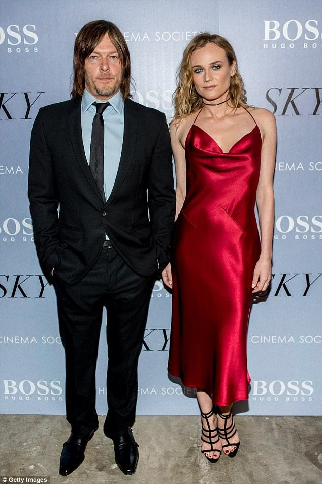 The actress was seen without new beau Norman Reedus, who she was spotted kissing in New York City eight months after ending her 10 year relationship with Joshua Jackson (pictured in April 2016)