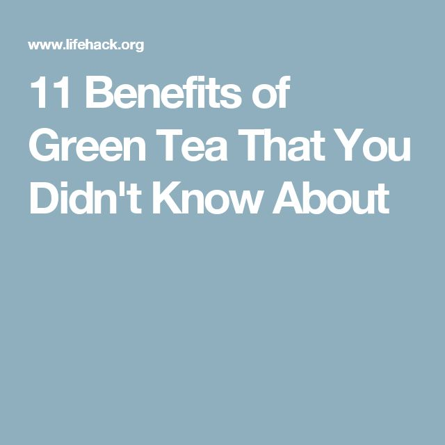Examples List on Green Tea