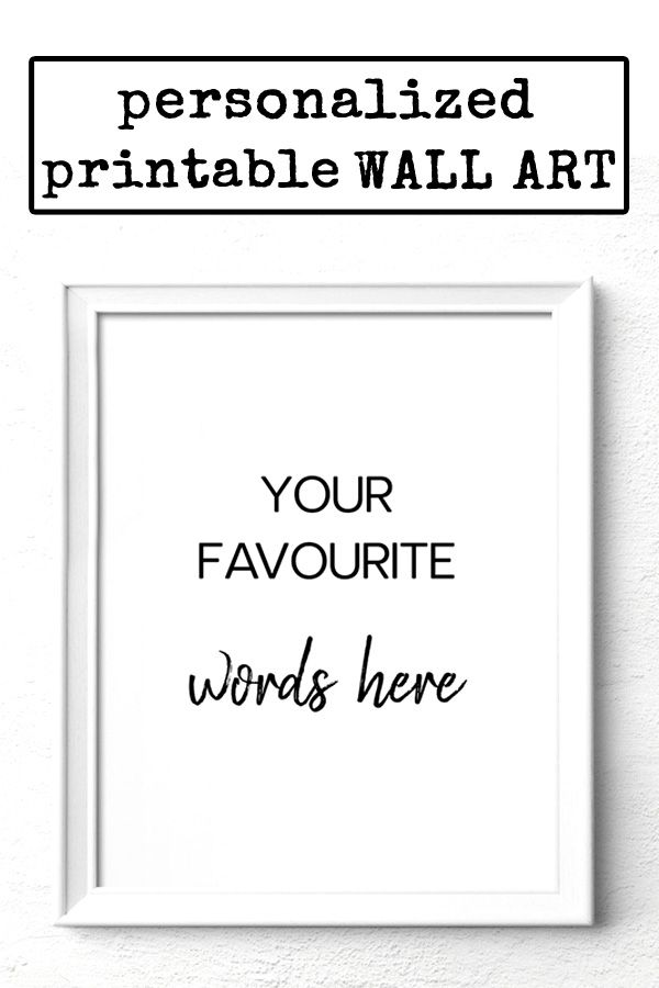 Personalized Quote Print Custom Quote Wall Art Anniversary Gift Digital Download Art Wall Quotes Quote Prints Personalized Quotes