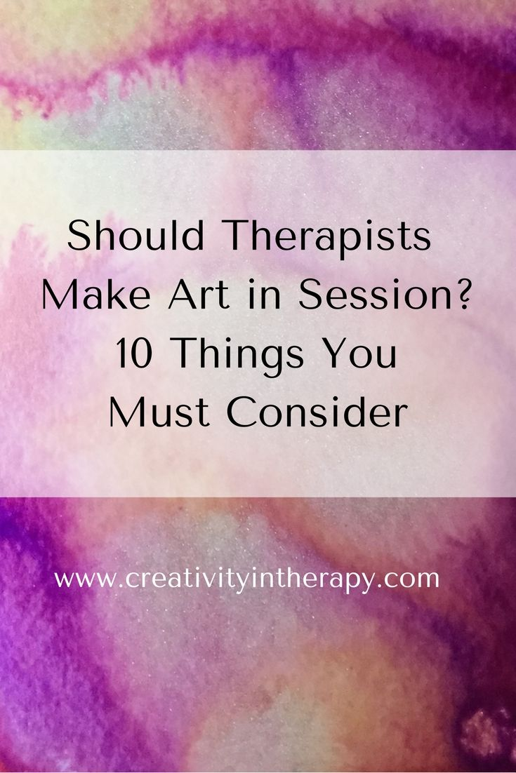Whether you are an art therapist or a counselor/therapist who uses art in therapy, you should thoughtfully consider when to do art along with clients and when to not.  (Creativity in Therapy)