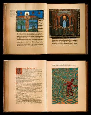 Details of Jung's Calligraphy and art work in The Red Book