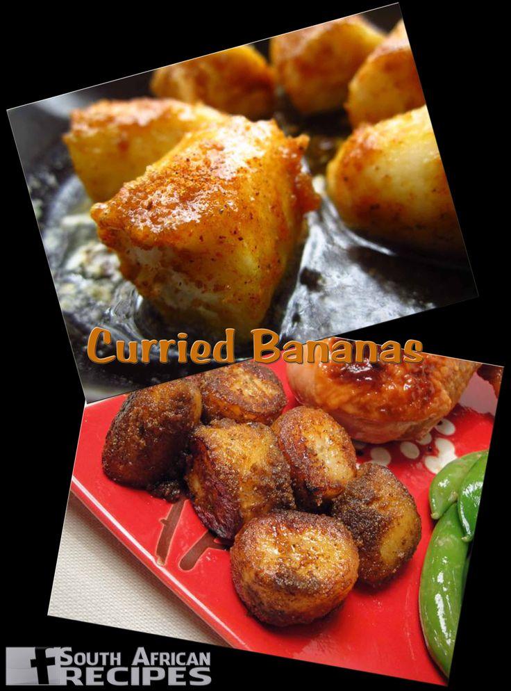 South African Recipes CURRIED BANANAS (Elmotoo)