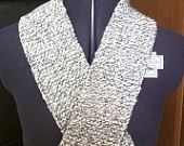 Hand Knitted Grey and White Aran Scarf