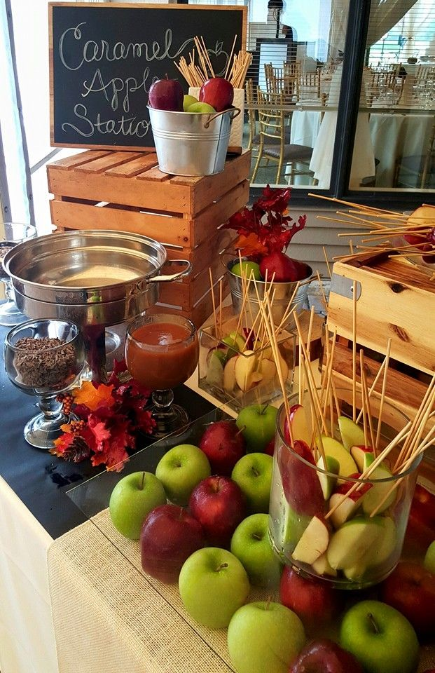 Fun Interactive Food Station For Your Weddings Fall Stations Caramel Le