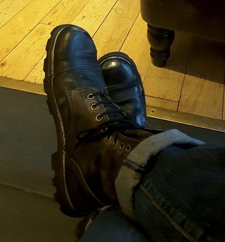 Edgy and distressed Diesel steel toe caps...my fav boots this season